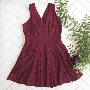 Free People Berry Cut Out Lace Dress sz XS